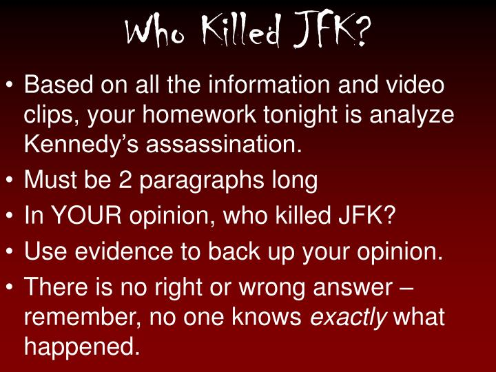 who killed john fitzgerald kennedy