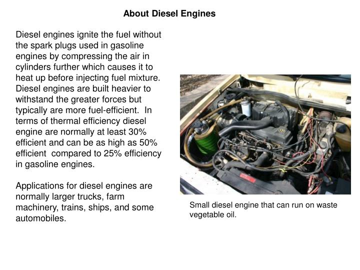 About Diesel Engines