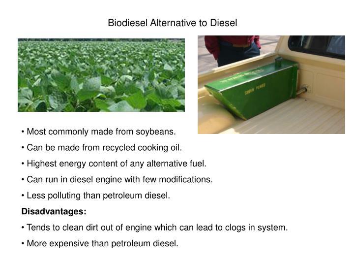 Biodiesel Alternative to Diesel