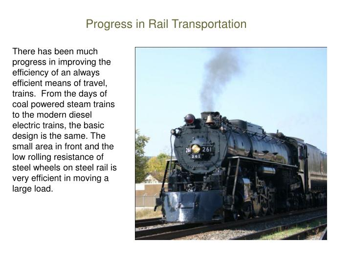 Progress in Rail Transportation