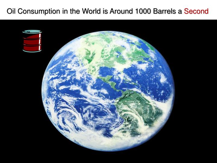 Oil Consumption in the World is Around 1000 Barrels a
