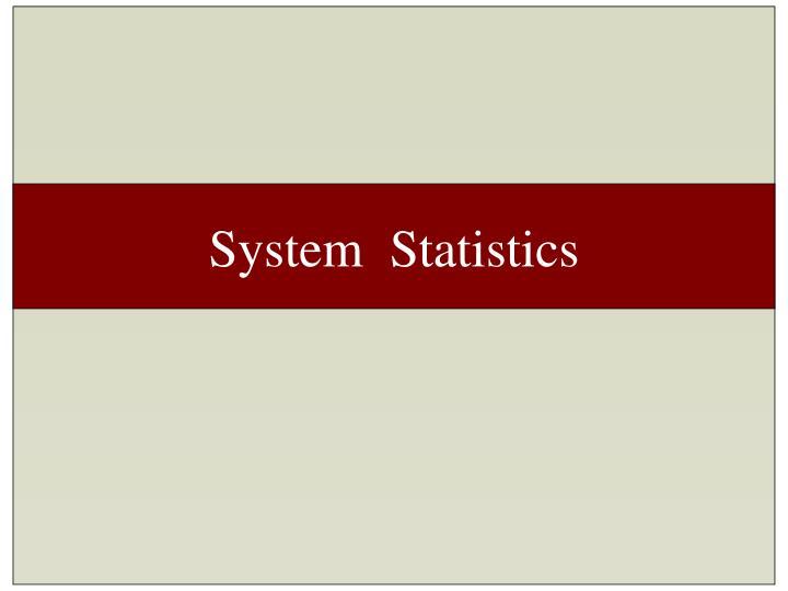 System  Statistics