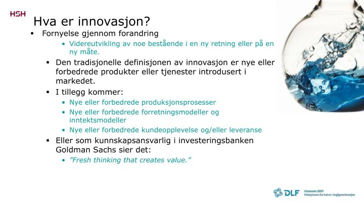 Hva er innovasjon?