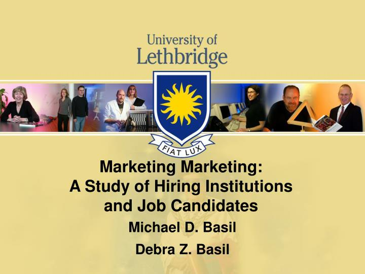 marketing marketing a study of hiring institutions and job candidates n.