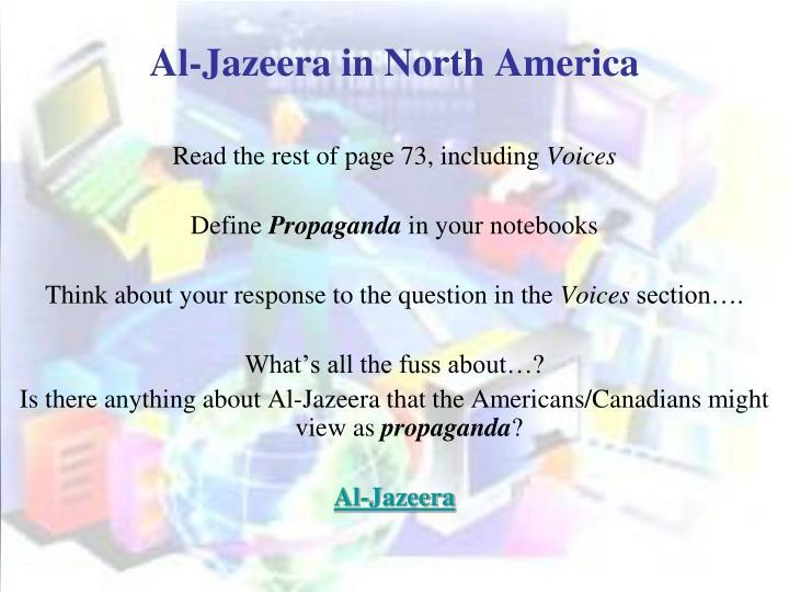 Al-Jazeera in North America