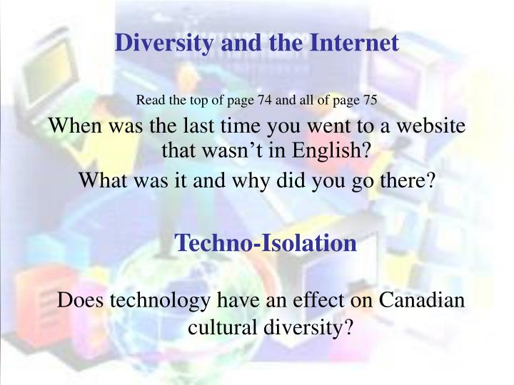 Diversity and the Internet