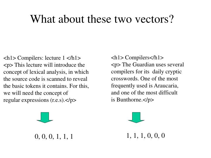 What about these two vectors?