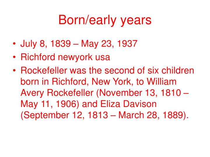 Born/early years