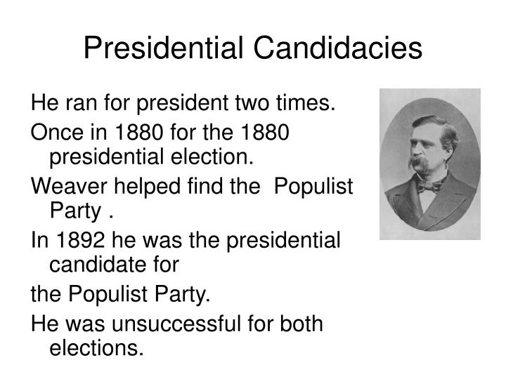 Presidential Candidacies