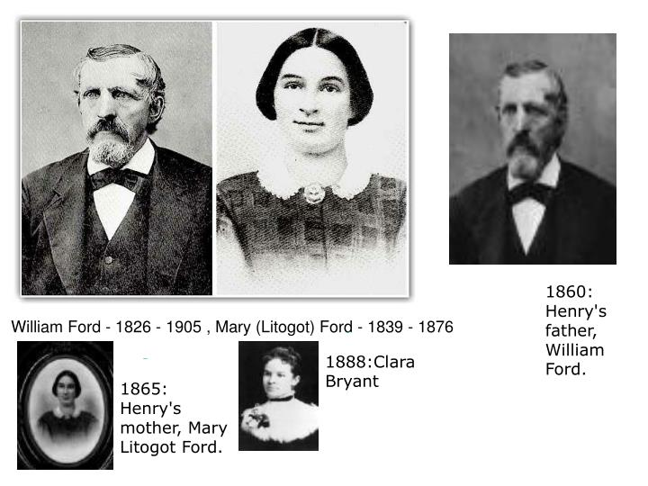William Ford - 1826 - 1905 , Mary (Litogot) Ford - 1839 - 1876