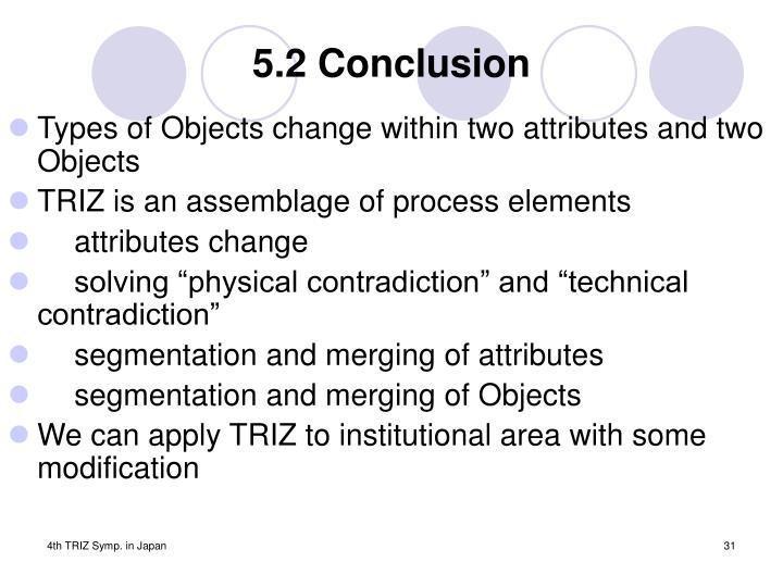 5.2 Conclusion