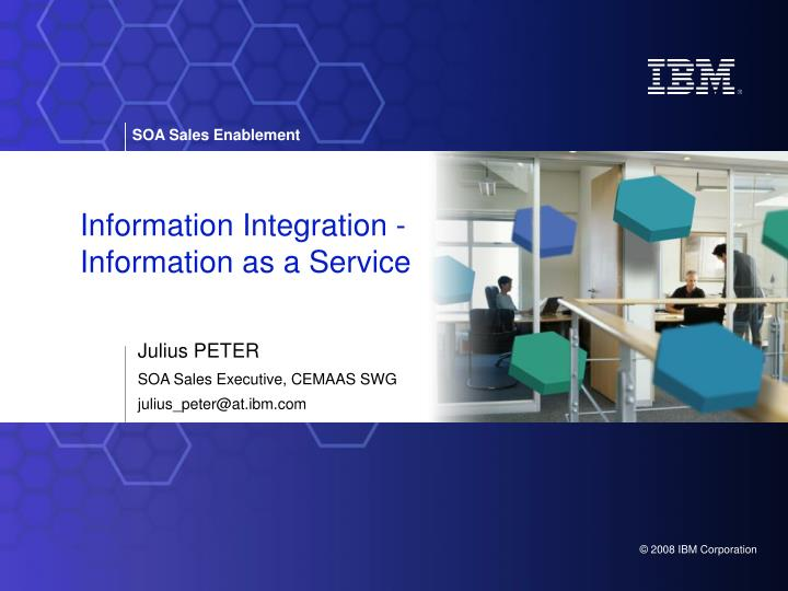 information integration information as a service n.