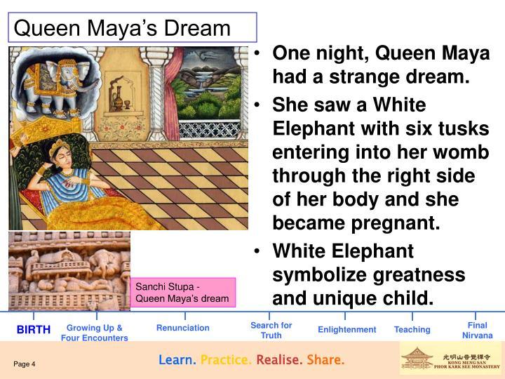 Sanchi Stupa - Queen Maya's dream