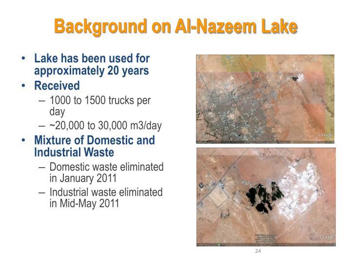 Background on Al-Nazeem Lake