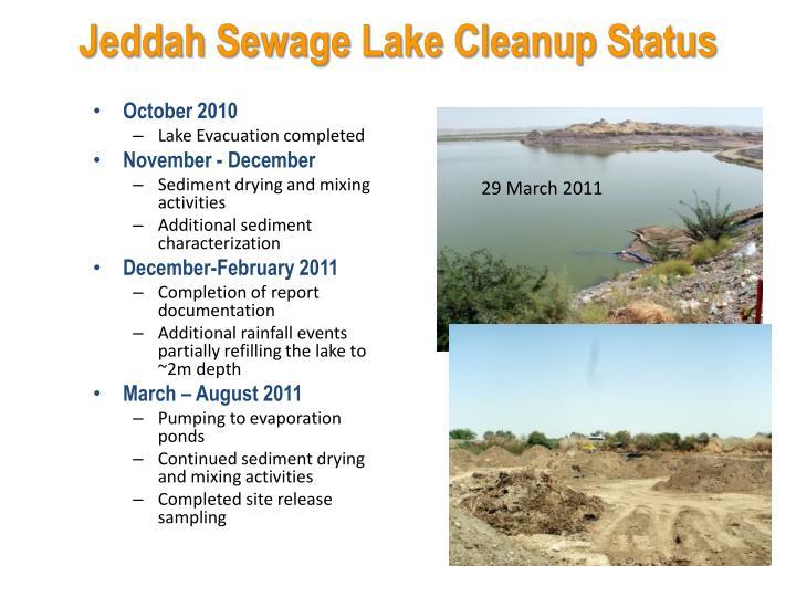 Jeddah Sewage Lake Cleanup Status