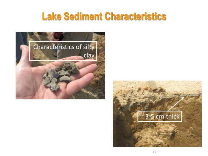 Lake Sediment Characteristics