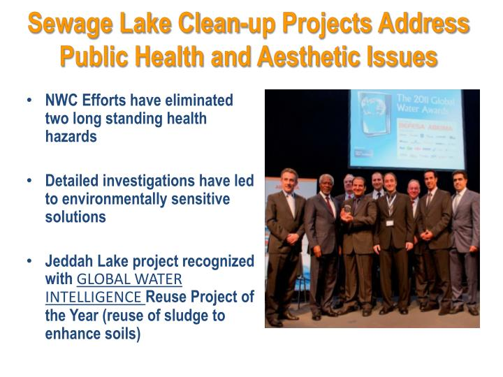 Sewage Lake Clean-up Projects Address Public Health and Aesthetic Issues