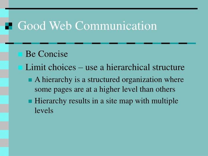 Good Web Communication