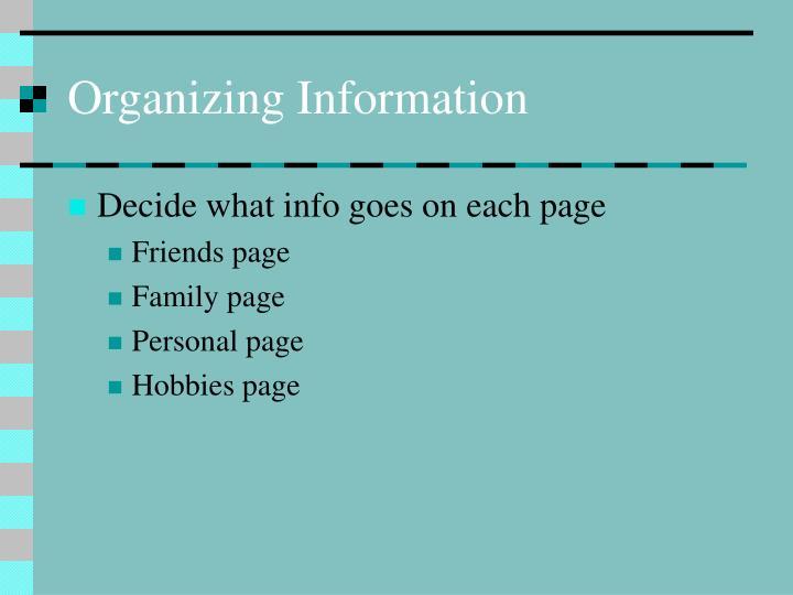 Organizing Information