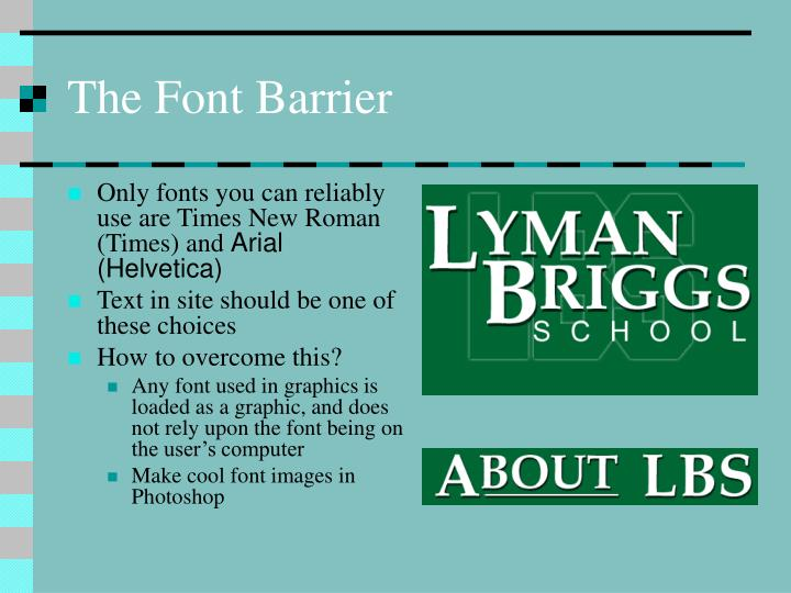 The Font Barrier