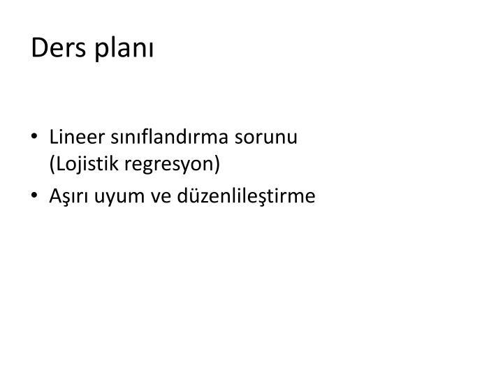 Ders plan