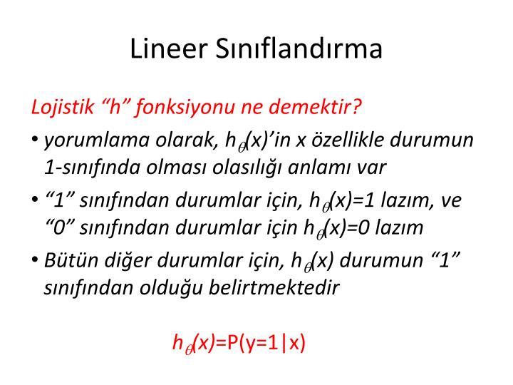 Lineer Sınıflandırma