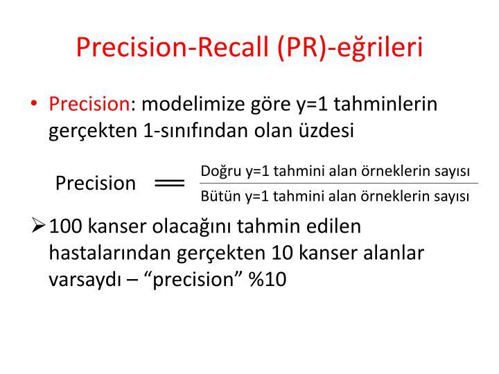 Precision-Recall (PR)-eğrileri