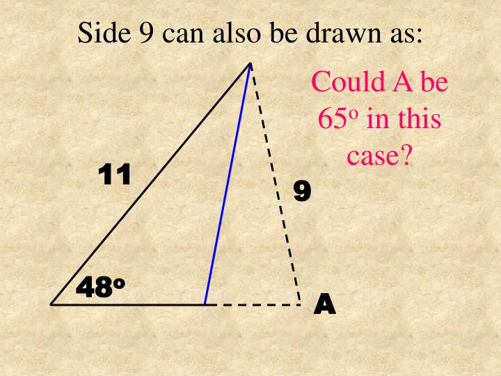 Side 9 can also be drawn as: