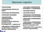 operazioni cognitive