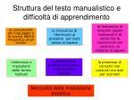 struttura del testo manualistico e difficolt di apprendimento