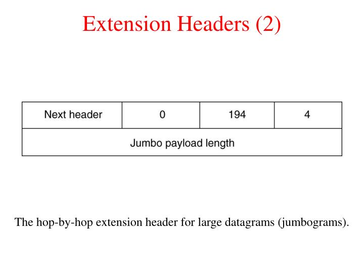 Extension Headers (2)