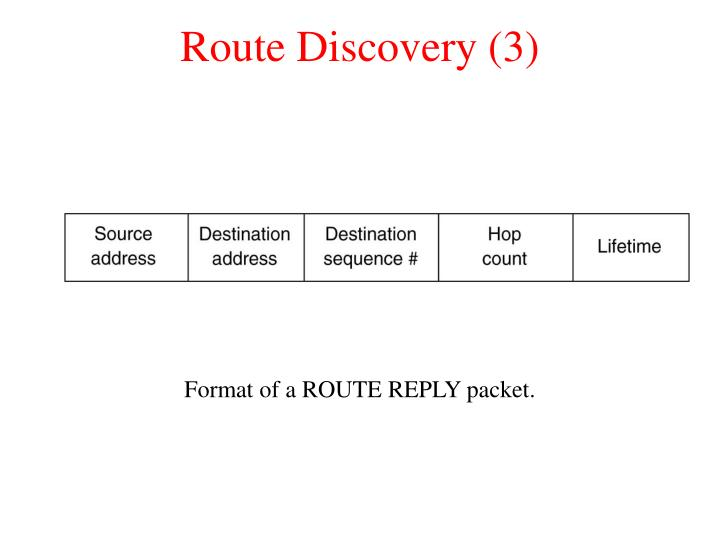 Route Discovery (3)