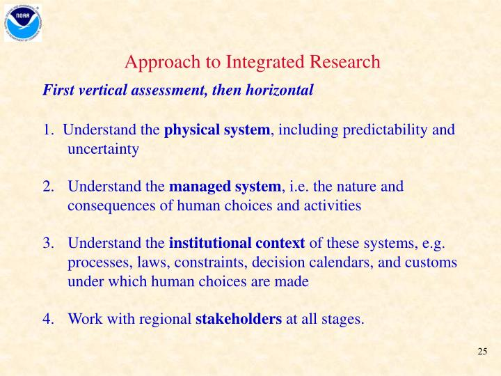 Approach to Integrated Research