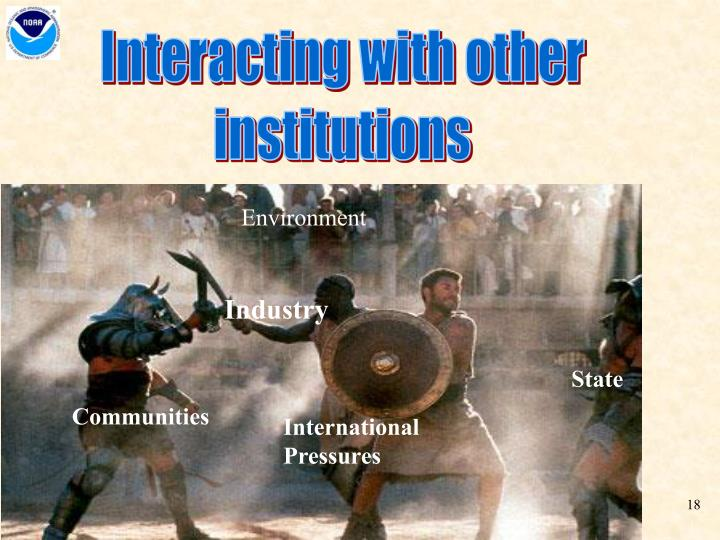 Interacting with other