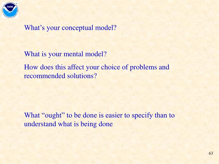 What's your conceptual model?
