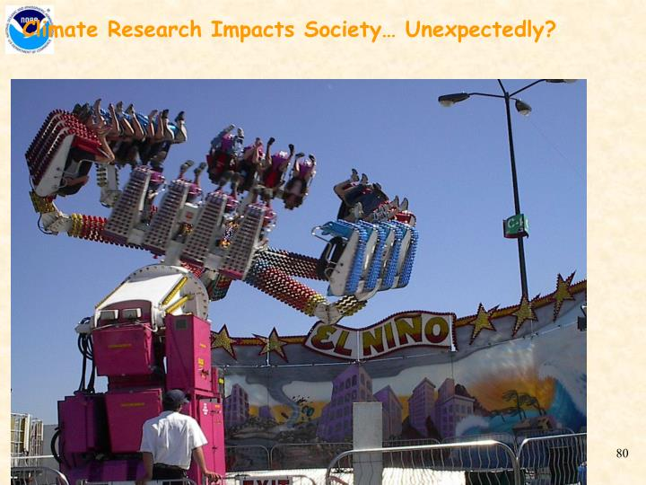 Climate Research Impacts Society… Unexpectedly?