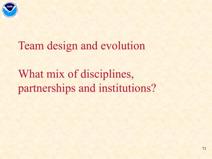 Team design and evolution