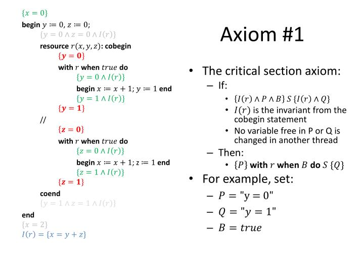 Axiom #1