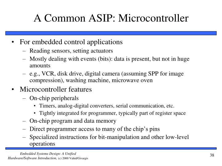 A Common ASIP: Microcontroller
