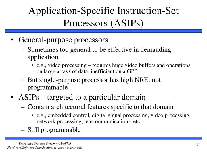 Application-Specific Instruction-Set Processors (ASIPs)