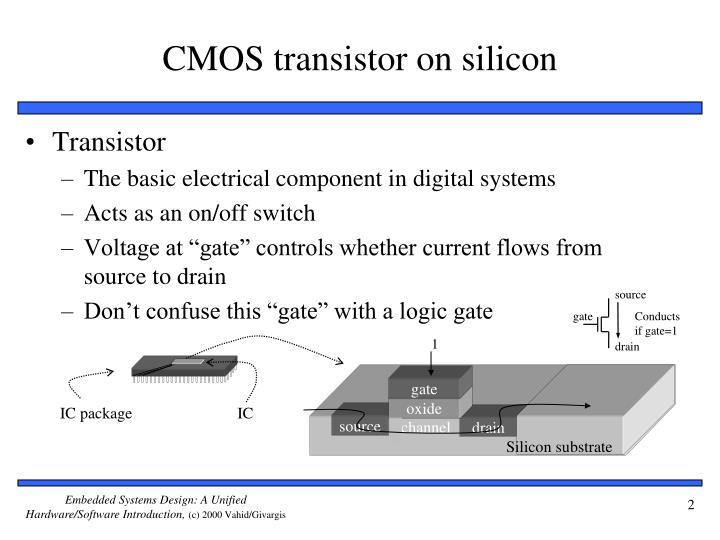 Cmos transistor on silicon