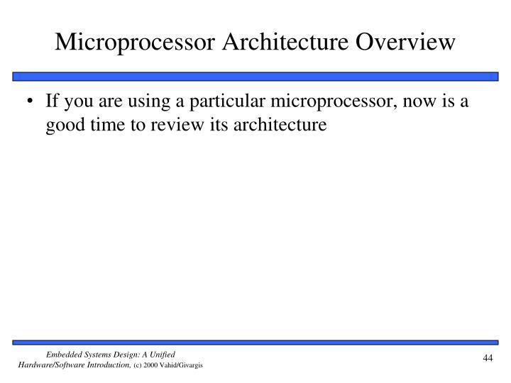 Microprocessor Architecture Overview