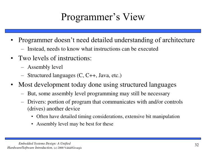 Programmer's View
