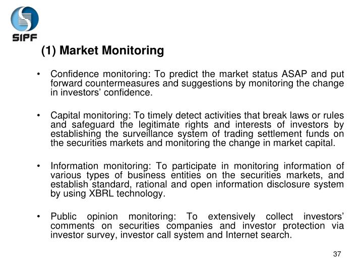 (1) Market Monitoring