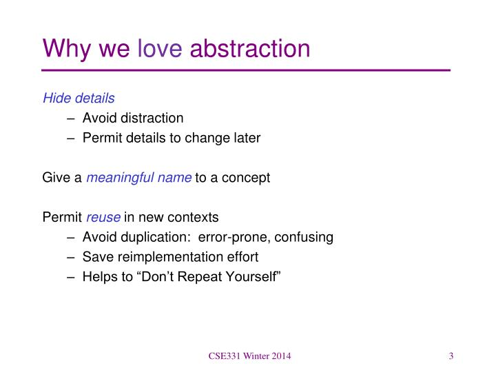 Why we love abstraction