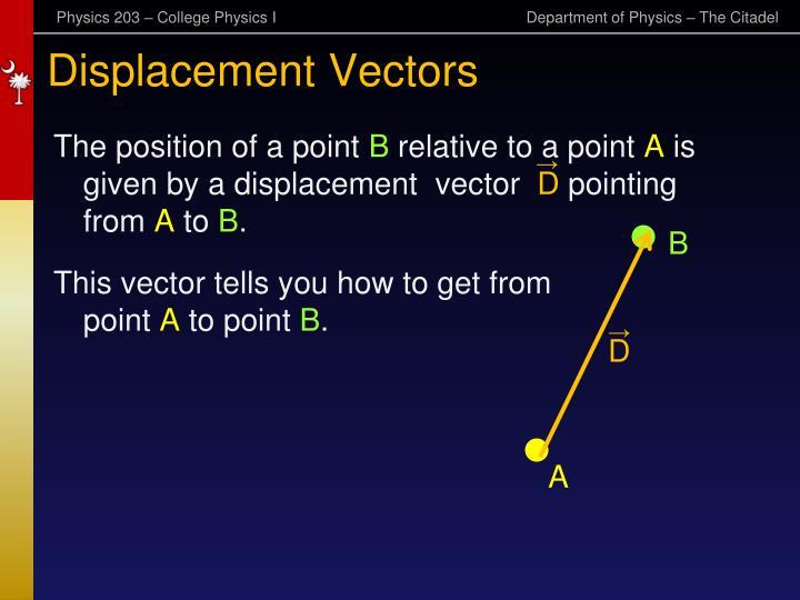 Displacement Vectors