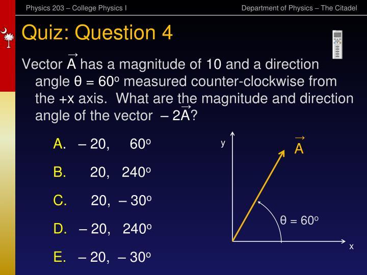Quiz: Question 4