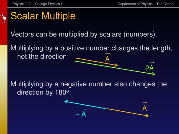 Scalar Multiple