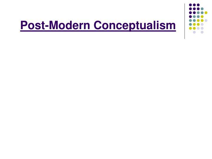 Post-Modern Conceptualism