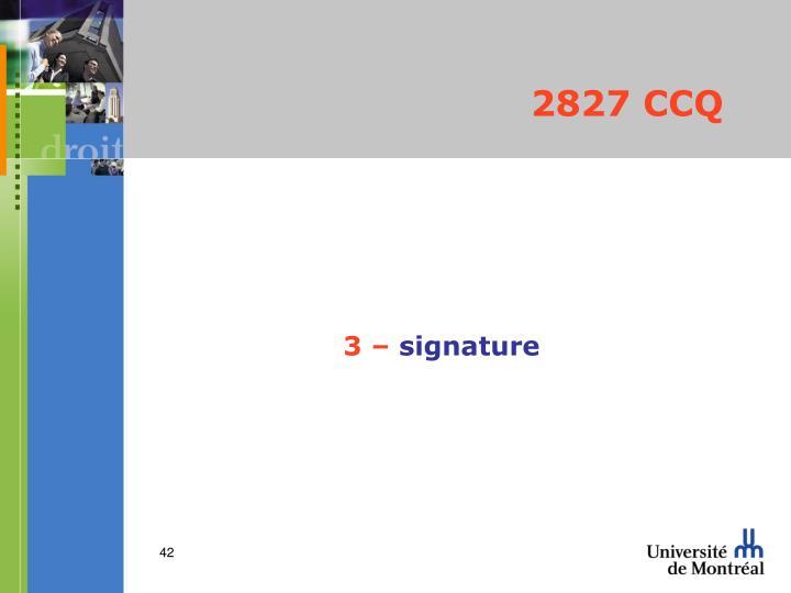 2827 CCQ